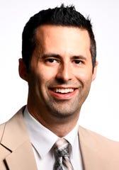9/25/19; Los Angeles, CA, USA; Mark Medina, USA TODAY NBA beat writer. Portrait taken at USA Today Los Angeles bureau. Photo by Robert Hanashiro, USA TODAY Staff [Via MerlinFTP Drop]