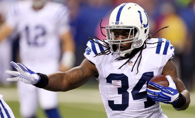 Trent Richardson played in 29 games for the Colts, rushing for 977 yards and 6 TDs.