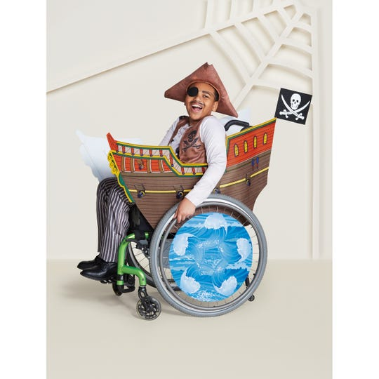 A Pirate costume for wheelchairs in available at Target.