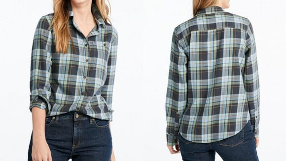 Layer up with a plaid shirt this autumn.