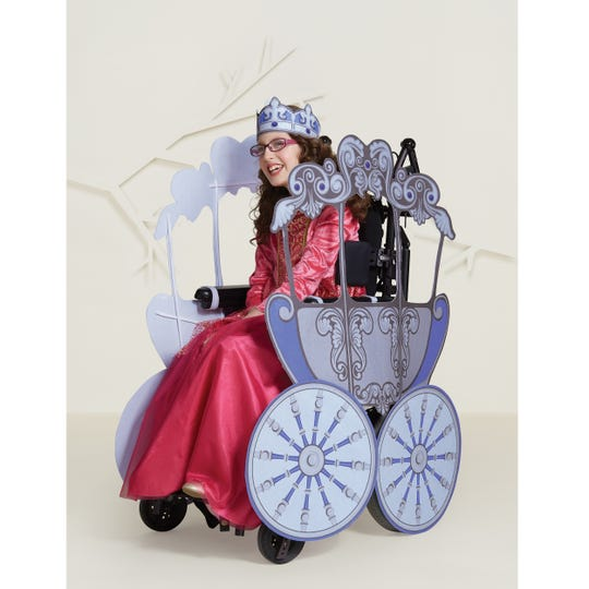 A Princess costume for wheelchairs at Target.