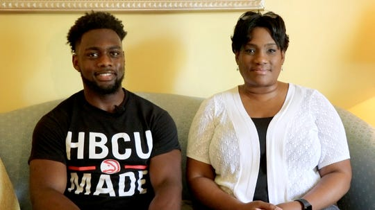 Aaron Greene and his mother Di-Anne.
