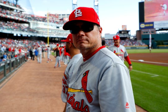Cardinals manager Mike Shildt prior to Game 5 of the NLDS.