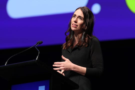 New Zealand Prime Minister Rt Hon Jacinda Ardern speaks during The Power Of Inclusion Summit 2019 at Aotea Centre on October 03, 2019 in Auckland, New Zealand.