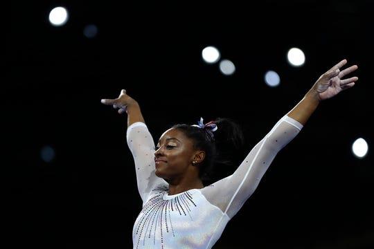 Simone Biles. World champion, again.