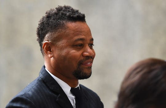 Cuba Gooding Jr. arrives at court in New York Oct. 10, 2019, for a proceeding on his groping case.