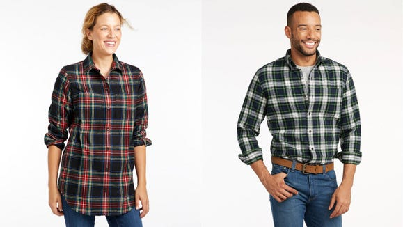 This flannel shirt is warm and stylish.