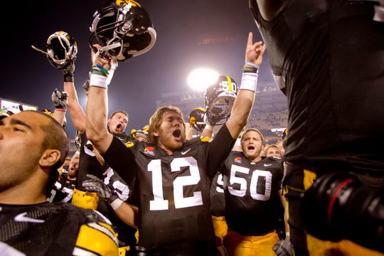 Former Iowa QB Ricky Stanzi will be back in Iowa City on Saturday for the Penn State game.