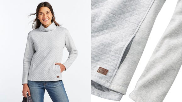 Quilted detailing gives this pullover some extra pizzaz.
