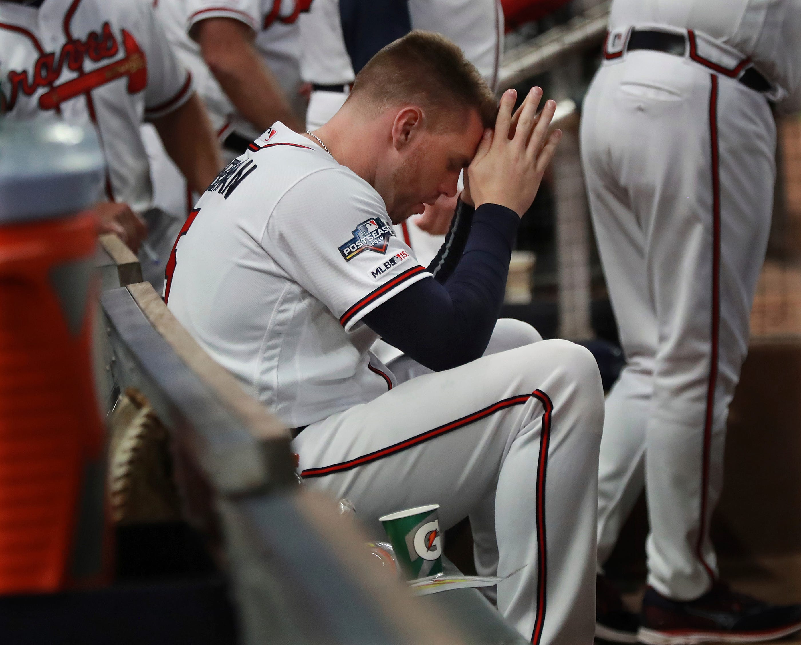 Stuff happens fast : Braves live out a nightmare as postseason ends with first-inning meltdown