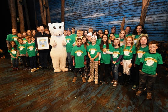 """The Loukoumi Foundation visits """"Come From Away"""" last year."""
