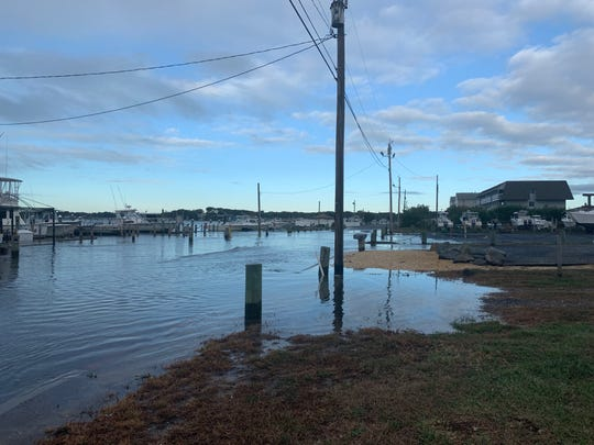 Flooding near the Shark River Inlet in Neptune Township on Friday morning, Oct. 11, 2019