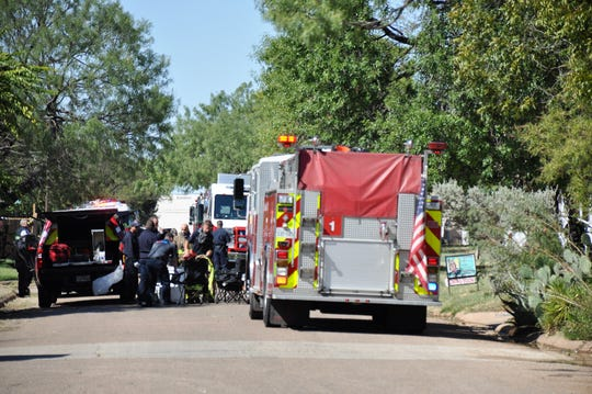 Abilene firefighters responded to a house fire in the 4100 block of Russell Avenue on Friday.
