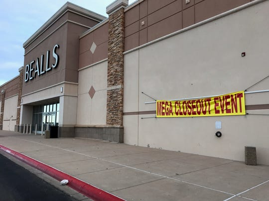 Bealls is having a Mega Closeout Event, according to signs on Friday.