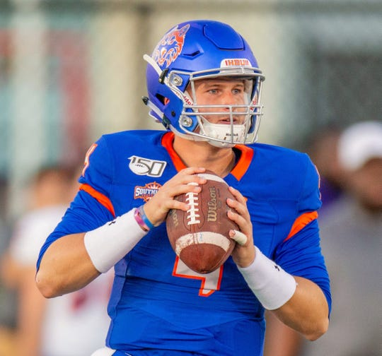 Houston Baptist quarterback Bailey Zappe leads the nation in passing yards and TD passes. The Huskies play ACU at 6 p.m. Saturday in a Southland Conference game at Wildcat Stadium.