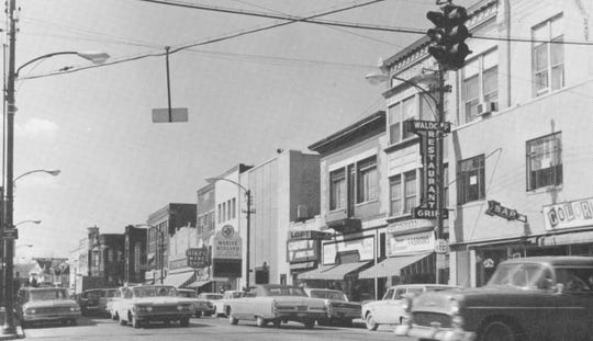 Main Street in Johnson City as it appeared in the 1960s.