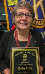 Cathy Ollis was named 2019 Kiwanian of the Year by the Kiwanis Club of Black Mountain-Swannanoa on Oct. 3.