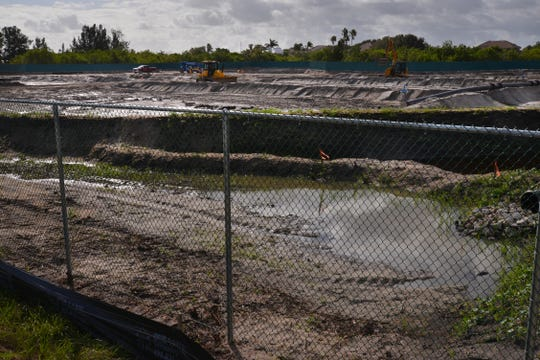 Work continues at the spoil site adjacent to Pineda Causeway in Satellite Beach,
