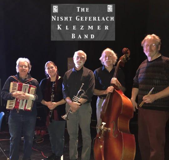 The Nisht Geferlach Klezmer Band, based in central Vermont, plays Oct. 20 in Westford.