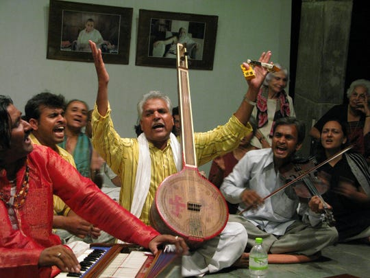 Prahlad Tipanya performs at the 13th-annual Diwali Night celebration Oct. 27 at the University of Vermont.