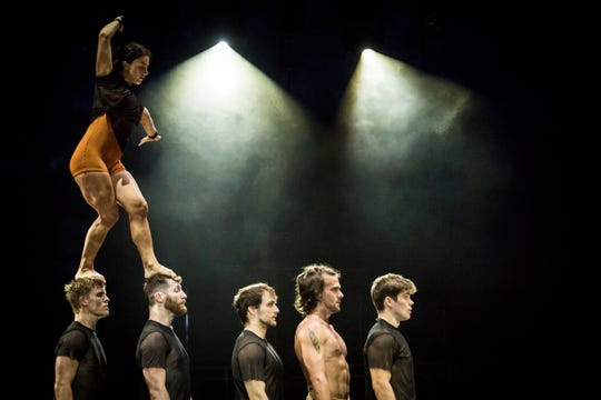 The acrobatic group Circa stages a performance Oct. 19 at the Flynn Center.
