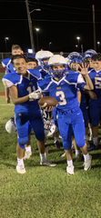 Odem senior Thomas Mann after getting to score a touchdown in Thursday's JV game against Hebbronville.