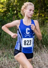 Chillicothe's Laikin Tarlton finished first at the FAC Championships for the second straight season with a time of 19:53.47. The Chillicothe girls cross country team took first place with an average time of 21:09.57 at the 2019 Frontier Athletic Conference (FAC) Cross Country meet on Oct. 10, 2019, in Chillicothe, Ohio.