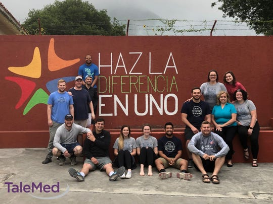 TaleMed employees on a May 2019 mission trip to Monterrey, Mexico,where they performed 40 hours of community service with children.