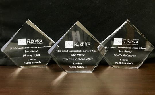 Three awards won by Linden Public Schools at the New Jersey School Communication Awards on Thursday, Sept. 26, at the Heldrich Hotel in New Brunswick.
