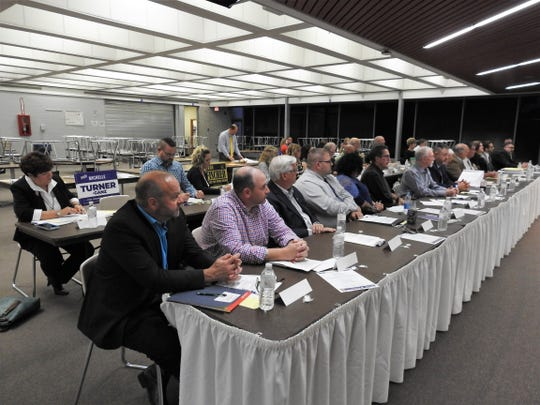 About 30 candidates and those representing levies spoke at a Meet the Candidates Night held Thursday at the Coshocton County Career Center held by the Coshocton County Farm Bureau and Coshocton Business and Professional Women. Organizers said it was the most speakers they've ever had.
