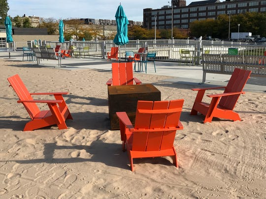 The new Robert C. Valade Park, formerly known as Atwater Beach, will feature a sandy beach area and lots of different types of seating when it opens to the public on Oct. 26, 2019.