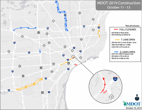 Lane, exit closings planned for I-75, I-94 this weekend on m-24 road map, i-70 road map, i-72 road map, i-90 road map, i-94 road map, us 31 road map, michigan to florida road map, i-15 road map, i-80 road map, i-25 road map, i-40 road map, central florida toll road map, interstate 75 map, i-65 road map, interstate 5 road map, i-57 road map, i 75 michigan map, i 5 road map, i-20 road map, i 75 route map,