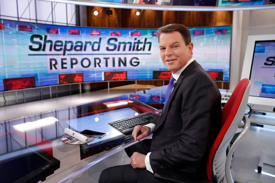 """In this Jan. 30, 2017, file photo, Fox News Channel chief news anchor Shepard Smith appears on the set of """"Shepard Smith Reporting"""" in New York. Smith says he is leaving the network. He has worked at Fox News Channel since the network started in 1996."""