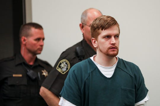 Jared Chance enters the courtroom for his sentencing in Kent County Circuit Court.