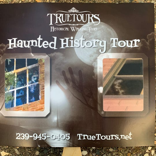 The two photos used to advertised the True Tours Haunted History Tour are said to be of specters that haunt downtown buildings.