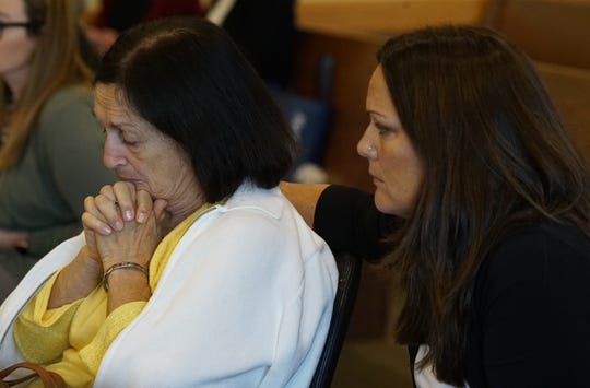 Mary Ann Groves, Teresa Sievers' mother, is consoled by Ann Lisa  as Jimmy Rodgers trial continued on Friday, October 11, 2019, for day 2 of testimony at the Lee County Justice Center in Fort Myers. Rodgers is on Trial for the murder of Teresa Sievers.