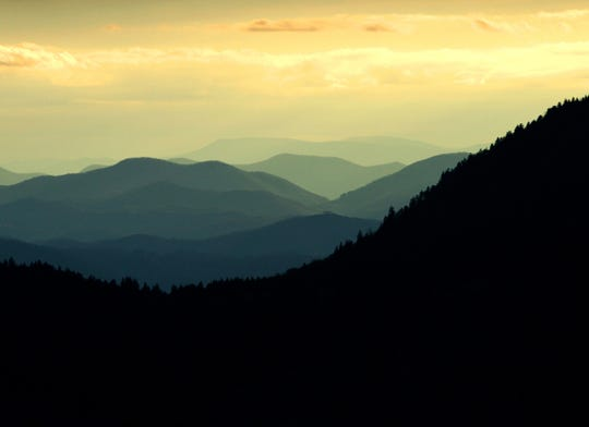 The view at from the Art Loeb Trail at Black Balsam Knob