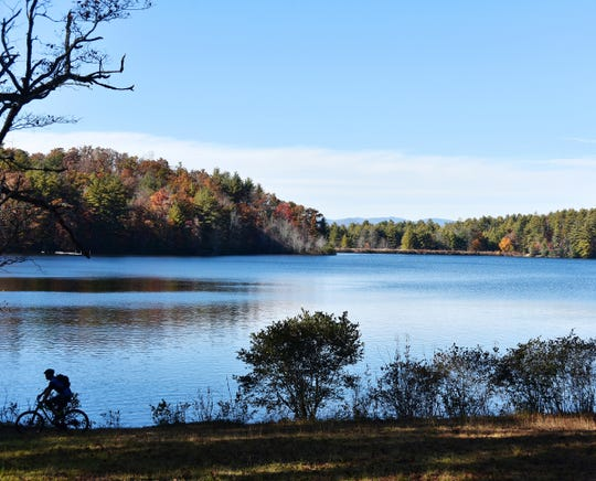 Lake Julia from the Reasonover Creek trail at DuPont State Forest.