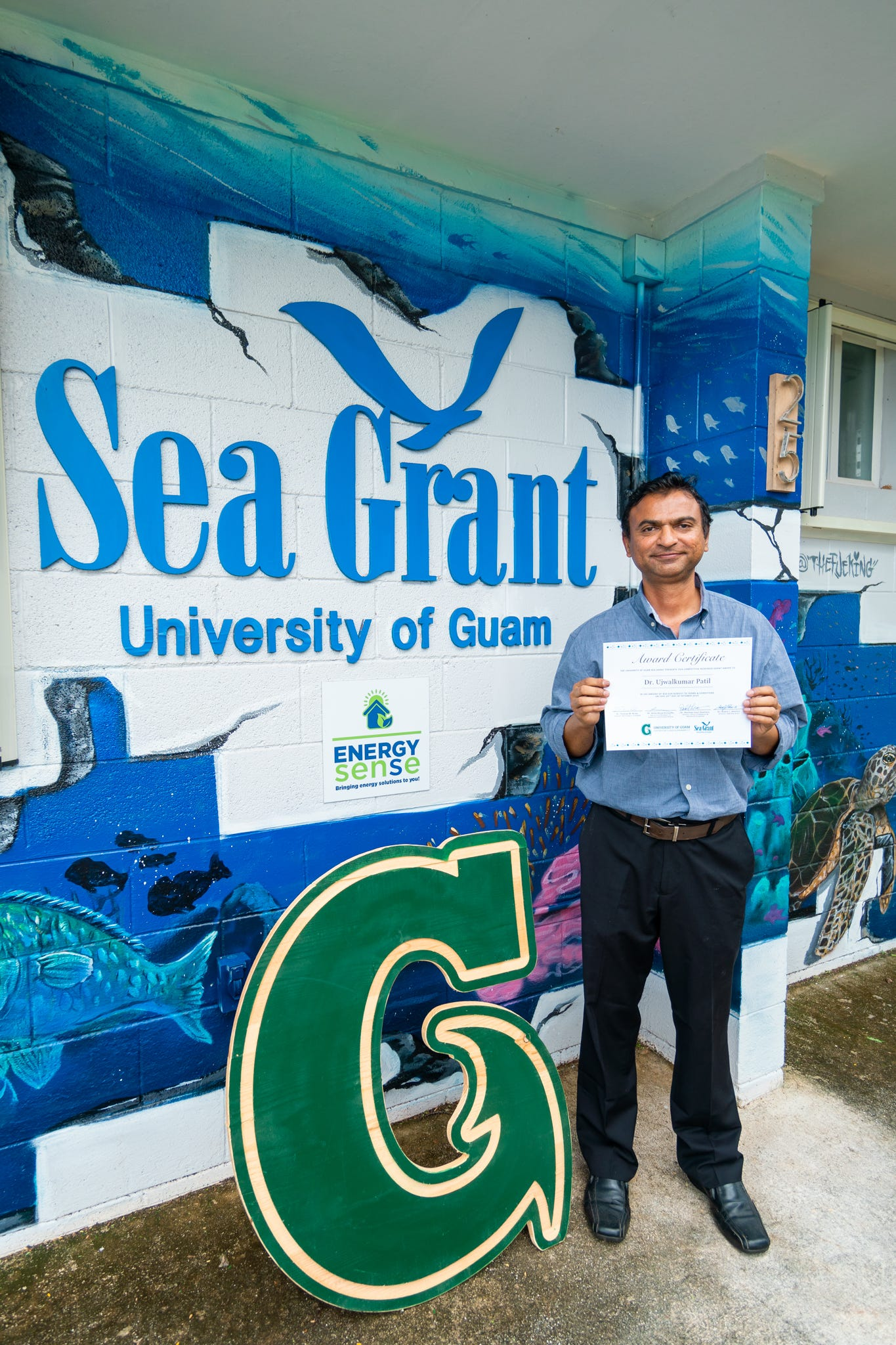 University of Guam School of Engineering Assistant Professor Ujwalkumar Patil is one of two awardees of UOG Sea Grant's 2019 competitive research cycle.