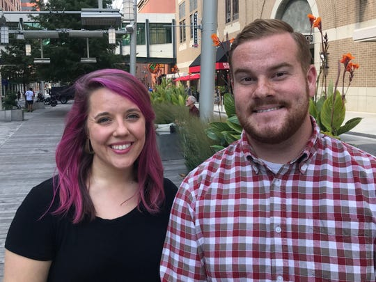 Jordan Thomas, left, and Nick Smith are organizing the first Indy Mural Fest, scheduled Oct. 26-27.