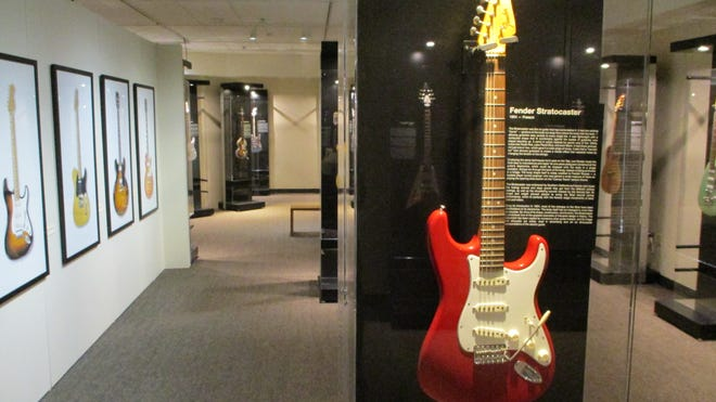 """Medieval To Metal: The Art & Evolution Of The Guitar"" is a touring exhibit featured at the Czech & Slovak Museum & Library in Cedar Rapids from Oct. 5, 2019, to Jan. 26, 2020."