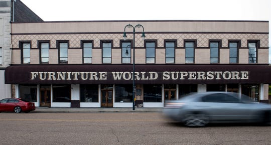 The Furniture World Superstore is closed and soon to be renovated to be a LD2 Market Shoppe on  N Church Street  in Jackson, Tenn., Friday, Oct. 11, 2019. This building will soon sell craft supplies to make art, clothes, jewelry and home decorations.