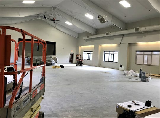 "The new Farragut Community Center is under renovation; the gymnasium, shown here in a recent photo provided by Sue Stuhl, will accommodate team practice, tournaments and other events. Interest in renting the facility has been tremendous; ""We've been getting a ton of calls,"" Stuhl said."