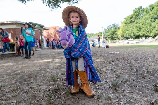 Kylie Gary at the L. Leo Judice Elementary annual Reading Rodeo. Friday, Oct. 11, 2019.