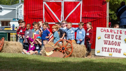 L. Leo Judice Elementary students enjoy outdoor activities with a western theme at the school's annual Reading Rodeo. Friday, Oct. 11, 2019.