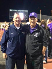 Me with my former high school football coach and father-in-law, Dick Hill.