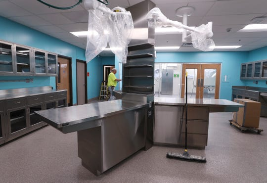The veterinary suite inside the new Louisville Metro Animal Services facility in Newburg. The facility is set to open on Oct. 21, 2019.