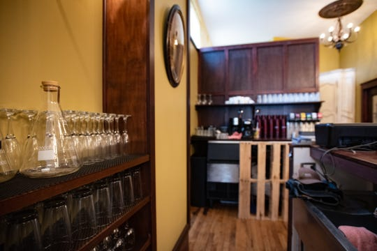 Behind the bar at the future homeof Sleepwalker Spirits and Ale in REO Town, slated to open by the end of October.