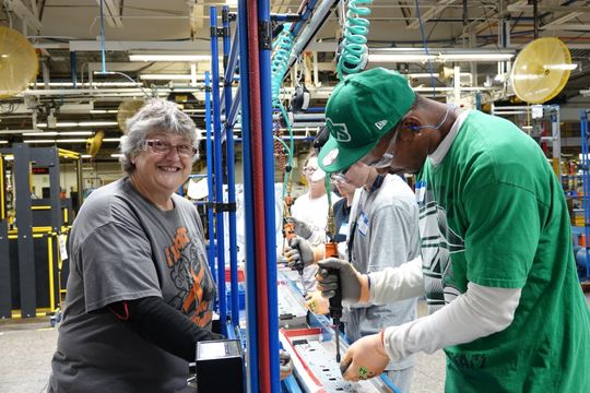 Employees of Whirlpool work at the Marion facility. The company  helped plan the upcoming Made in Marion Expo.
