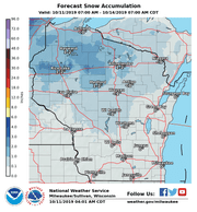 Snow could fall across portions of northern Wisconsin this weekend.
